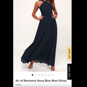 Lulus air of romance maxi dress